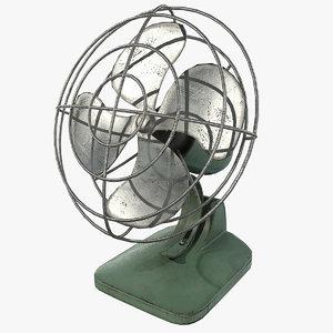 vintage fan 3D