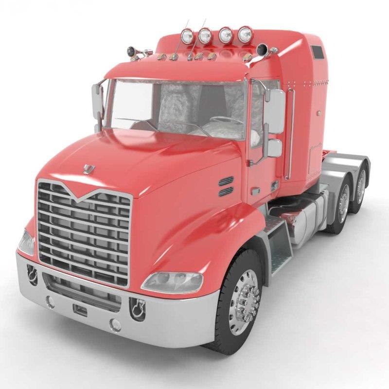 3D truck wagon trailer