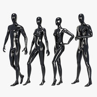 set male female mannequin 3D