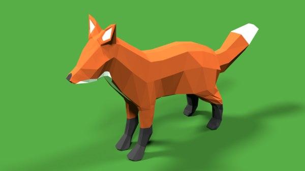 3D model version fox