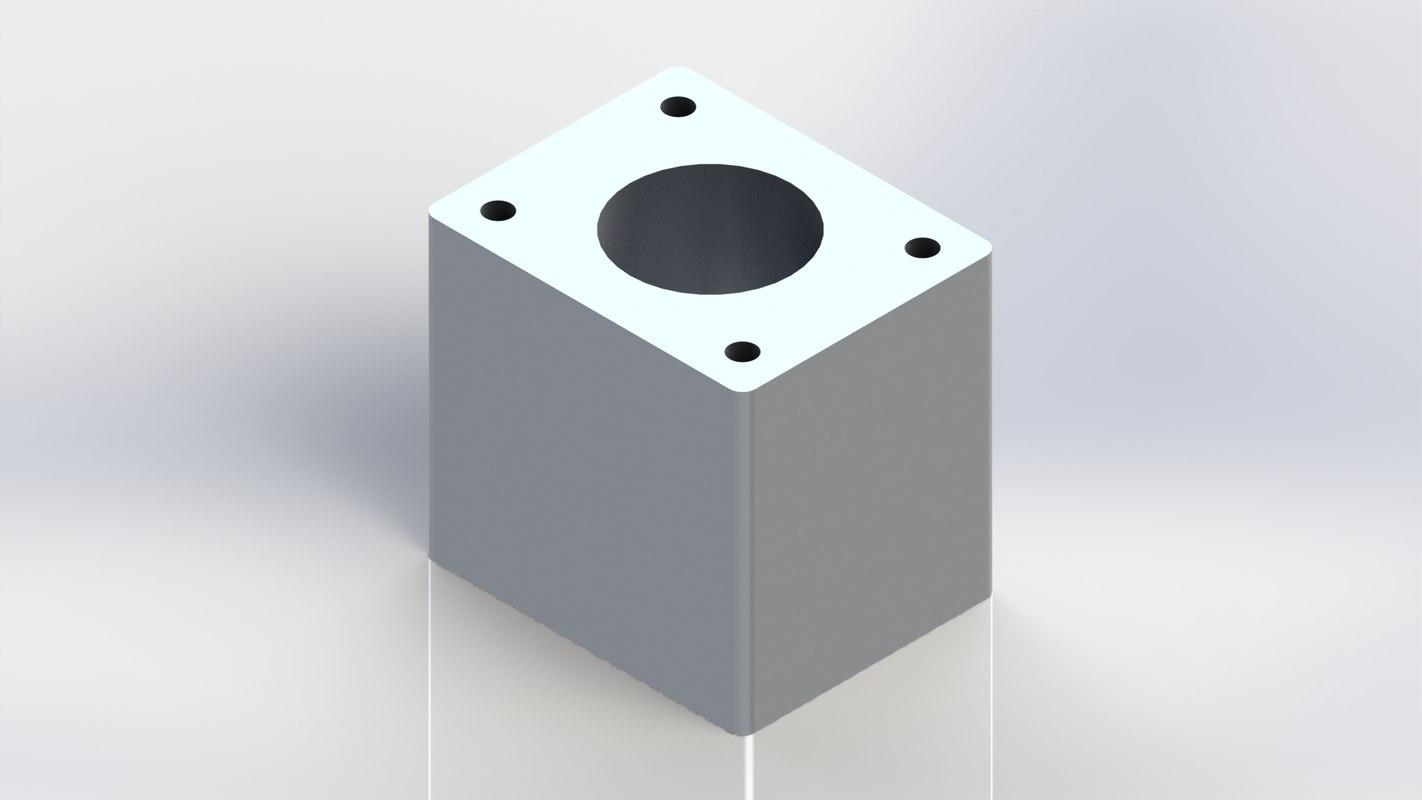 3D model cylinder block single engine solidworks
