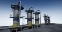 pbr industrial vertical vessel 3D model