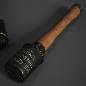 3D model m24 stick grenade