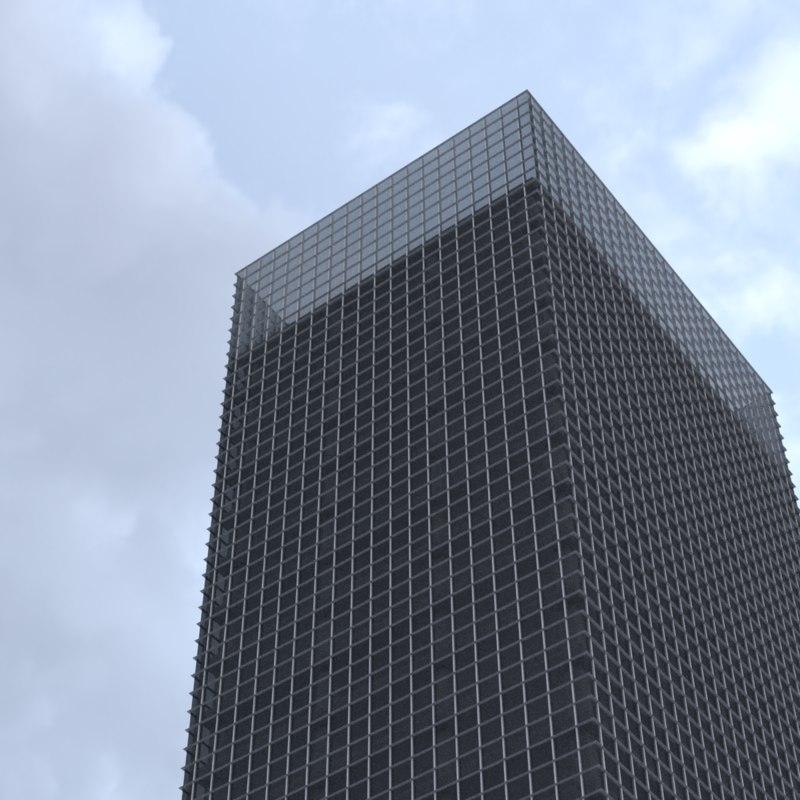 story skyscraper building 3D model