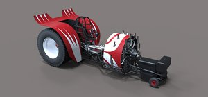 truck tractor pulling 3D