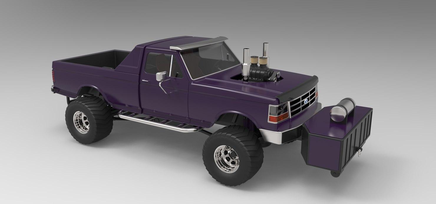 truck pull 3D model