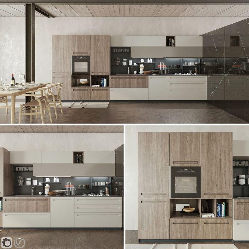 3D kitchen cucina mood stosa - TurboSquid 1222427