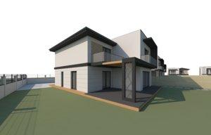 houses scene 3D model