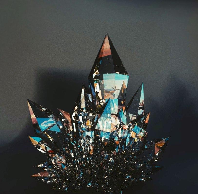 3D crystals studio lighting