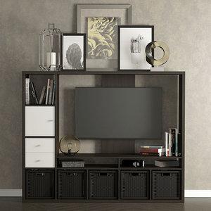 decor tv storage unit 3D model