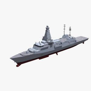 type 26 frigate 3D model