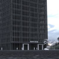 3D 20 story office tower