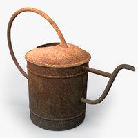 watering rusty 3D