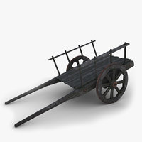 3D old cart model