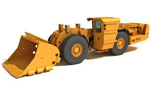 3D underground mining loader