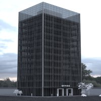3D model 12 story office tower
