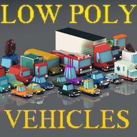 Low poly vehicles / Pack