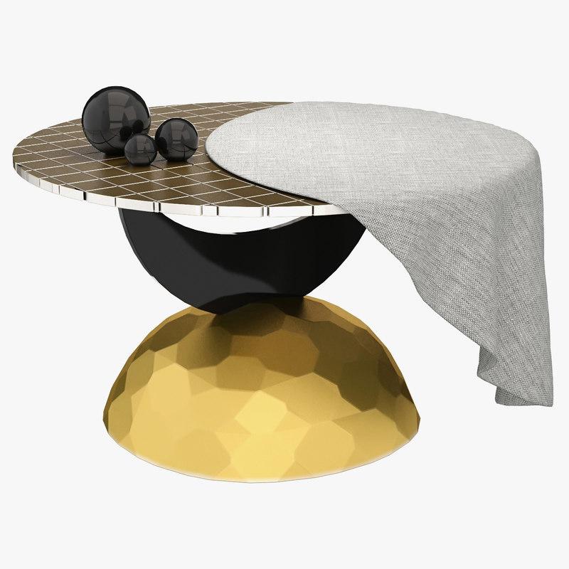 Half Moon Coffee Table 3D Model