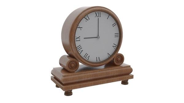 3D clock mantel