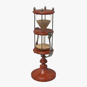 hourglass glass hour 3D model
