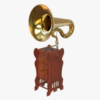 3D saloon gramophone model