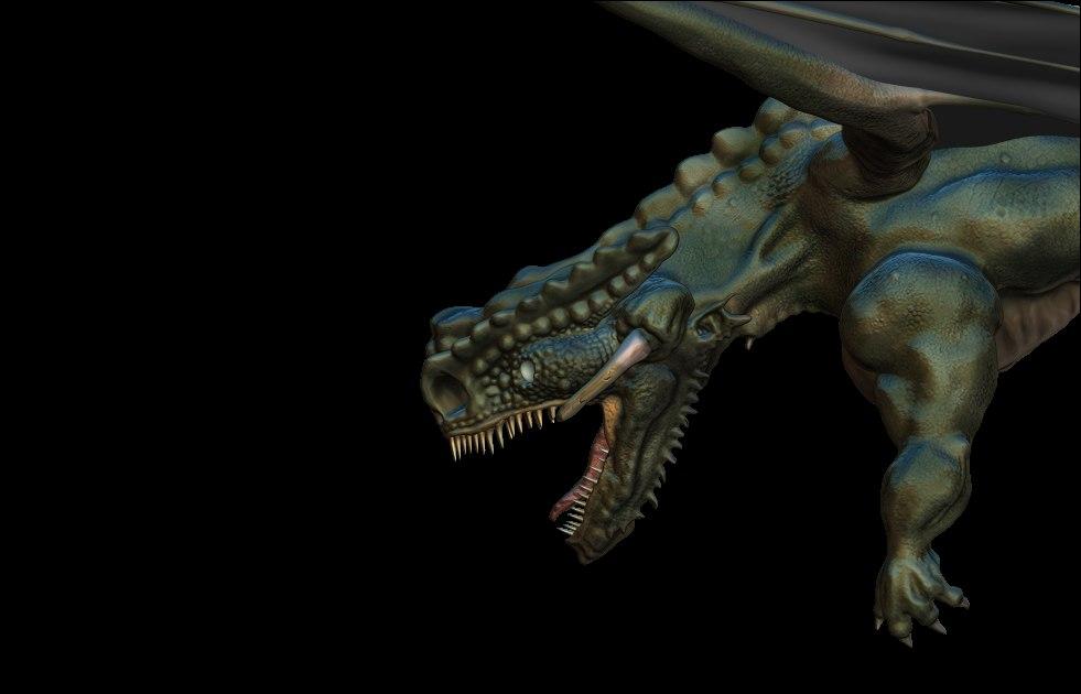 3D muscular dragon