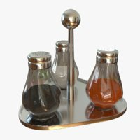 kitchen set salt pepper 3D model