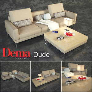 sofa angular little 3D