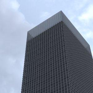 40 story standard skyscraper building 3D model