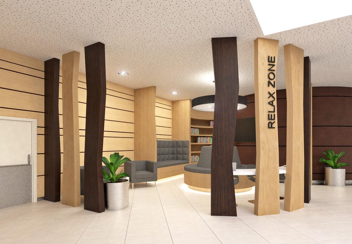 3D model relax zone