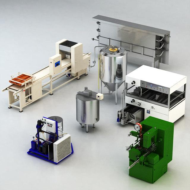 equipment grocery shop 3D model