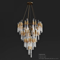 3D luxxy waterfall chandelier model