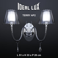 sconce ideal lux terry 3D model