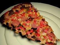 3D slice pizza model
