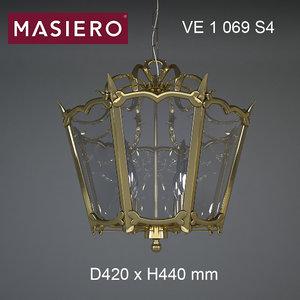 chandelier masiero brass spots model