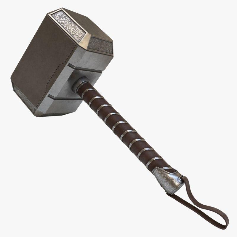 3D asset thor s hammer