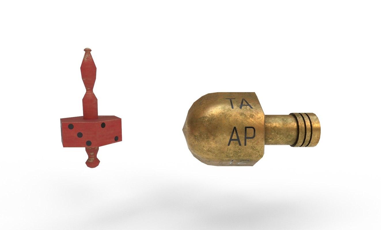 3D model teetotum spinning