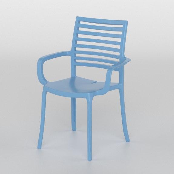 grosfillex garden chair armchair 3D model