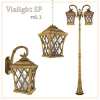 3D model bronze street vialight sp