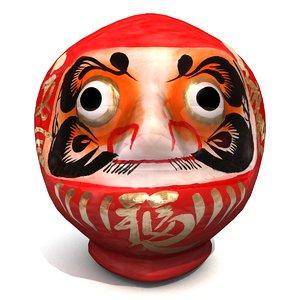 3D japanese daruma doll model