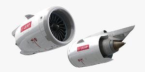 3D cfm leap-1a jet engine