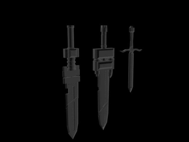3D model pack swords