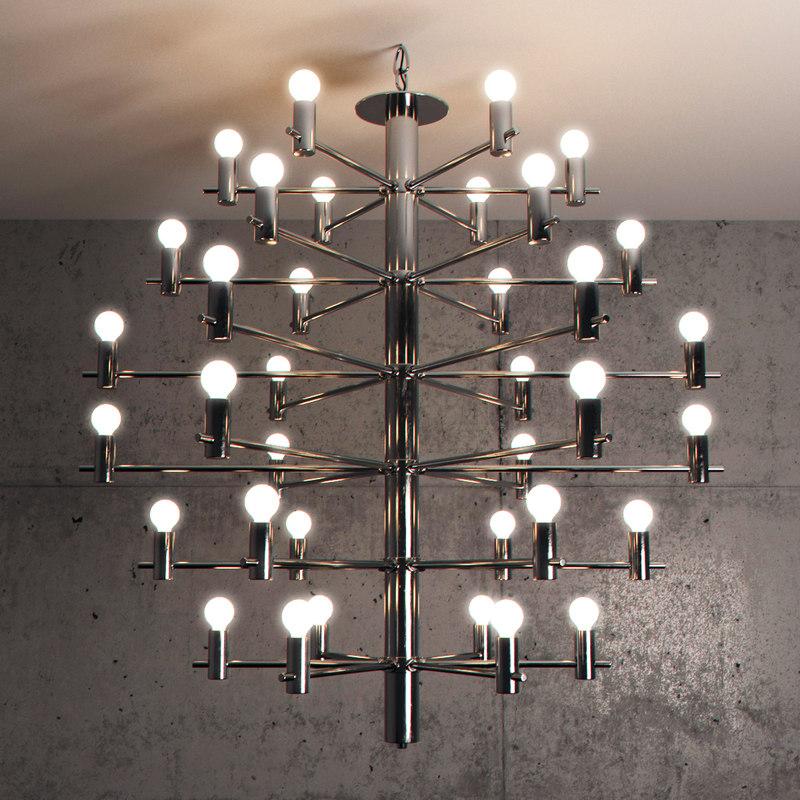 3D chandelier metalspot lighting