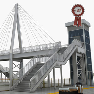 3D pedestrian bridge model