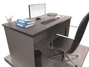 desk office items model