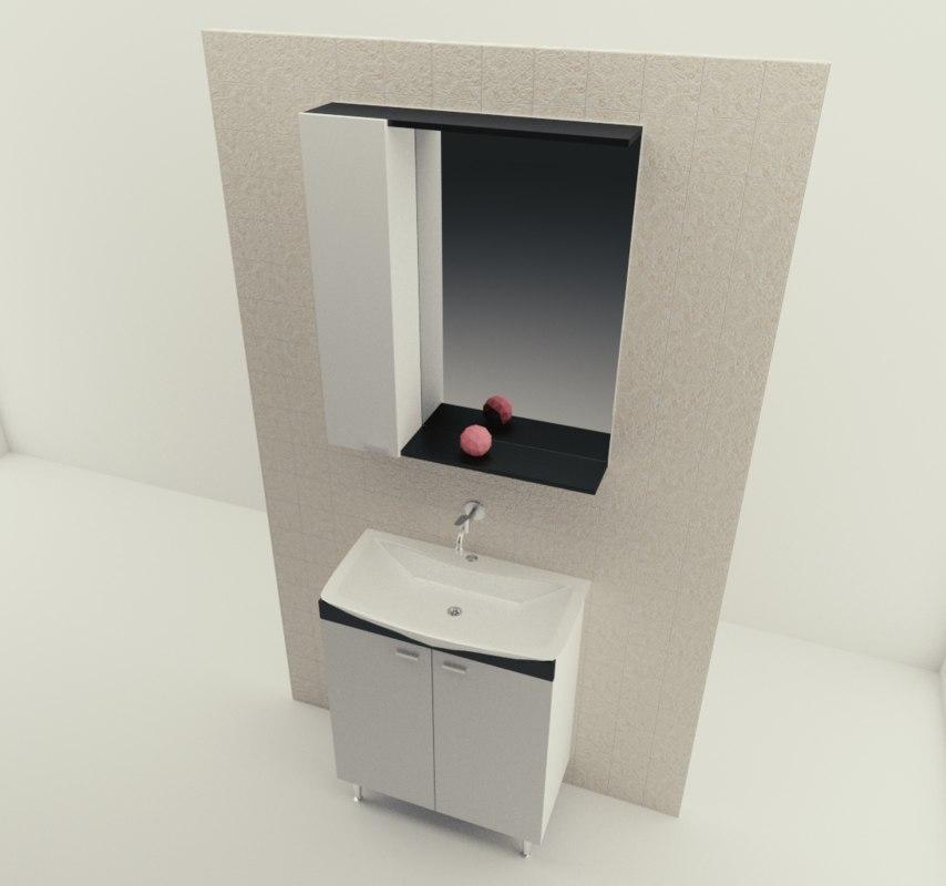 3D cabinet sink model