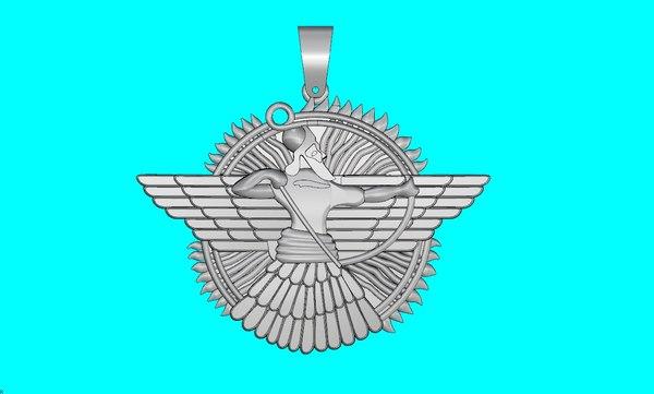 3D assyrian god model