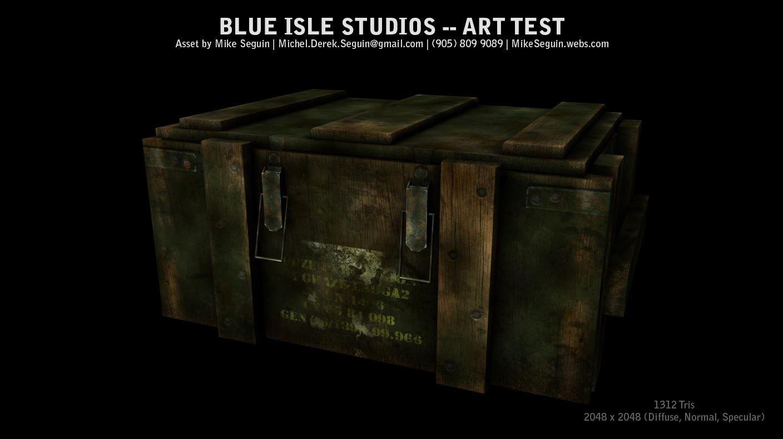 world war 2 crate 3D model