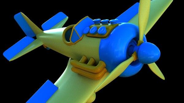 toon plane 3D model