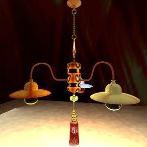 chinese lantern palace model